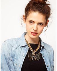 ASOS   Black Asos Premium Bug Necklace   Lyst