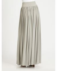 Cut25 by Yigal Azrouël Gray Washed Crepedechine Skirt