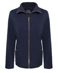 Dash Blue Zip Front Jacket