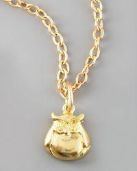 Dogeared - Metallic Cute Owl Charm - Lyst