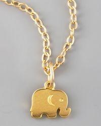 Dogeared | Metallic Elephant Charm | Lyst