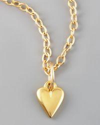 Dogeared - Metallic Kind Heart Charm - Lyst