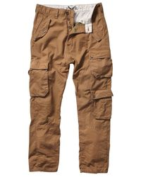 French Connection Brown Live Cargo Utility Trousers for men