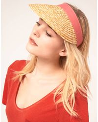 French Connection - Natural French Connection Straw Visor - Lyst