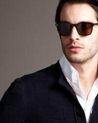 Giorgio Armani | Brown Round Sunglasses for Men | Lyst