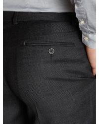Howick Black Birdseye Formal Suit Trousers for men