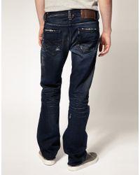 DIESEL Blue Larkee 74y Straight Jeans for men