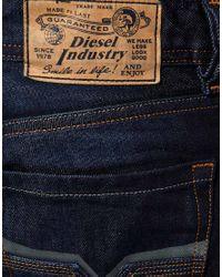 DIESEL - Blue Diesel Larkee 73n Straight Jeans for Men - Lyst
