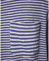 J.Lindeberg Blue J Lindeberg Breton Stripe Tshirt for men