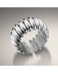John Hardy - Metallic Concave Flex Cuff, Silver - Lyst