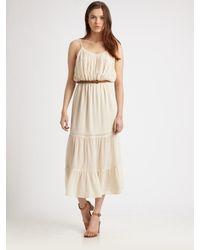 Joie   Beige Silk Pintuck Dress   Lyst