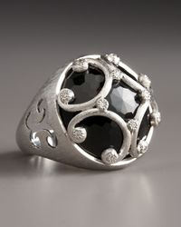Jude Frances | Black Florentine Ring | Lyst