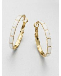 kate spade new york | Metallic Linked Hoop Earrings | Lyst