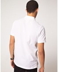 Lacoste L!ive White Lacoste Live Slim Fit Polo Shirt for men