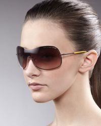 Marc By Marc Jacobs - Brown Shield Sunglasses  - Lyst