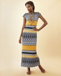 Melissa Masse | Multicolor Printed Maxi Dress | Lyst