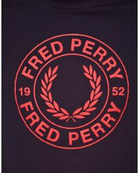 Fred Perry Blue Stamp Logo Tshirt for men