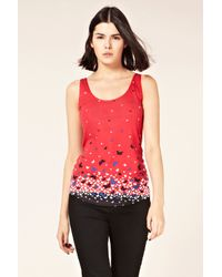 Oasis Red Butterfly Border Print Vest