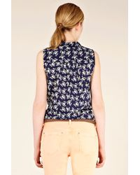 Oasis Blue Harlequin Printed Shirt