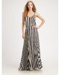 Parker Black Long Pleated Dress