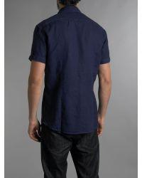 Paul Smith Blue Linen Shirt for men
