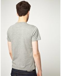 Replay Gray Motorwear Tshirt for men
