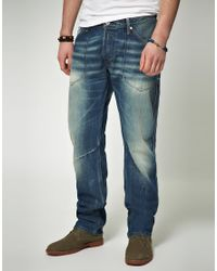 Replay Blue Replay Resco Loose Worker Jeans for men