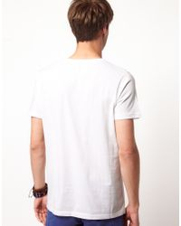 River Island - White Late Night Tshirt for Men - Lyst