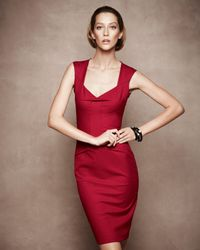 Roland Mouret | Red Lush Tie-back Dress | Lyst