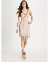 Sue Wong Pink Beaded Dress