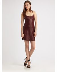 T By Alexander Wang Brown Leather Dress