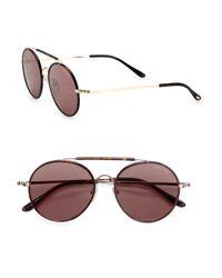 Tom Ford Brown Samuele Round Sunglasses for men