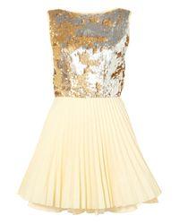 Topshop   Gold Vivienne Dress By Jones and Jones   Lyst