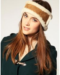 UGG | Brown Shearling Headband | Lyst