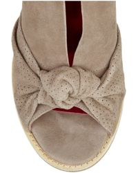 Belle By Sigerson Morrison Brown Suede Peep-toe Wedge Sandals