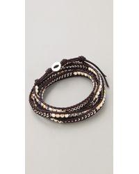 Chan Luu - Brown Beaded Wrap Bracelet - Lyst