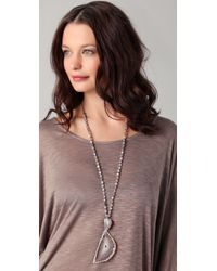 Chan Luu Gray Agate Pendant Necklace