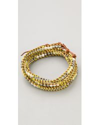 Chan Luu - Yellow Beaded Wrap Bracelet - Lyst