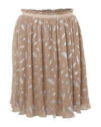 Darling Natural Feather Print Skirt