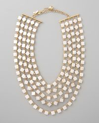 kate spade new york Natural Pearly Cove Bib Necklace