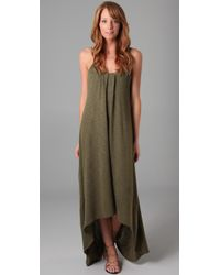 Lanston - Green Knit Maxi Dress - Lyst
