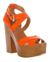 Ralph Lauren | Orange Alannah Sandal | Lyst