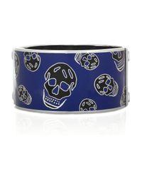 Alexander McQueen - Metallic Enameled Brass Skull Cuff - Lyst