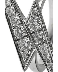 Anita Ko | Lightning Bolt 18karat White Gold Diamond Ring | Lyst