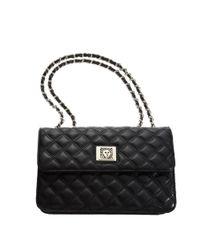 Anne Klein Black Lion Lady Medium Flap Bag