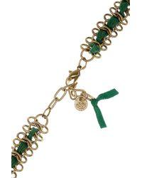 Antik Batik - Green Elias Tasseled Suede Necklace - Lyst