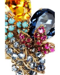 Bijoux Heart Metallic Vreeland 24karat Goldplated Swarovski Crystal Ring
