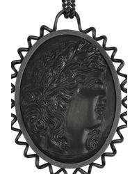 Bottega Veneta | Black Rutheniumplated Silver Cameo Necklace | Lyst