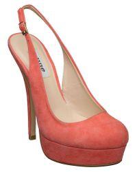 Dune Pink Candy D Sling Back Platform Court Shoes