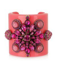 Emilio Pucci | Pink Plexiglass and Crystal Cuff | Lyst
